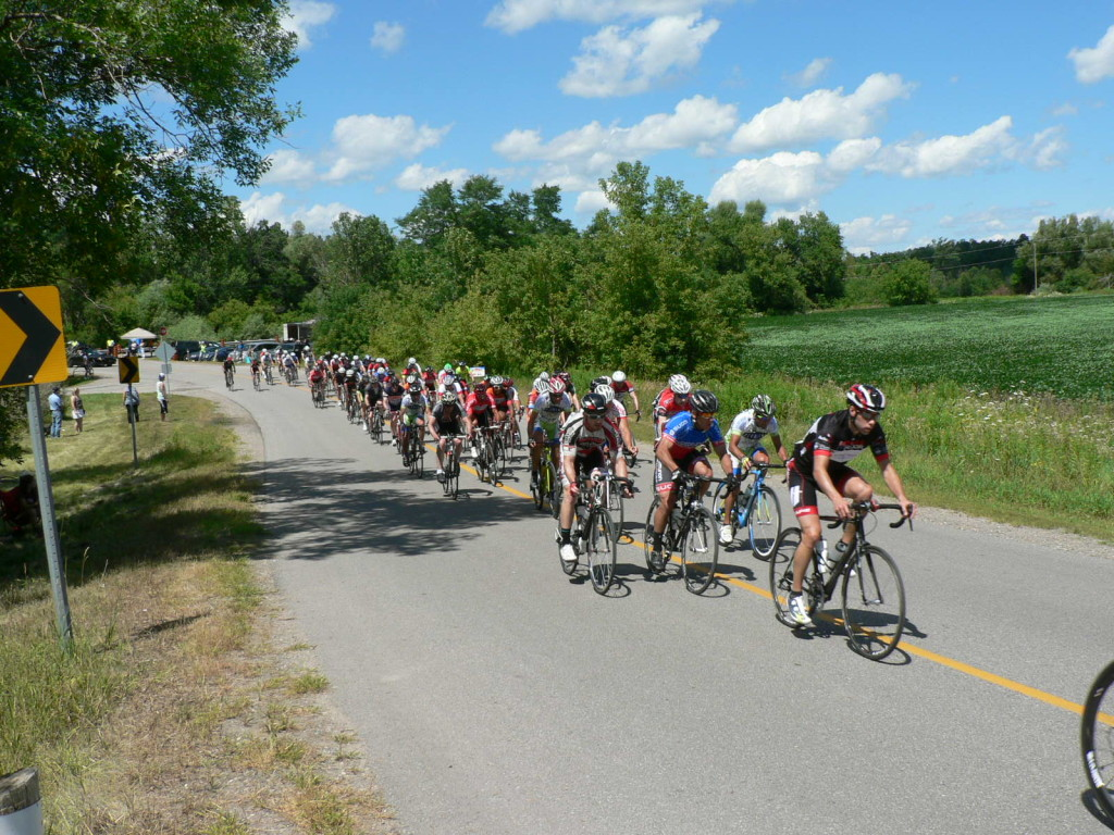 The weather was absolutely perfect for a bike race.  Sunshine and clear skies.
