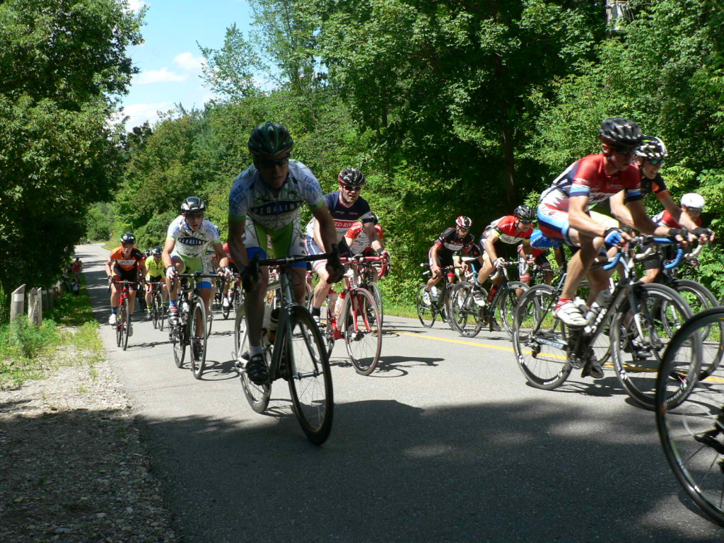 Riders had to work to make it up Heritage Climb.
